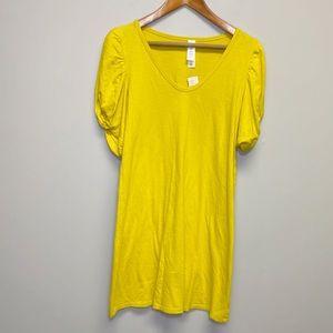 Anthropologie | NWT Chartreuse Tshirt Dress